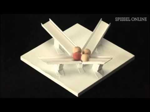 Schwerkraft ade - Bergauf rollende Kugeln. Optische Täuschung Video Nr. 1