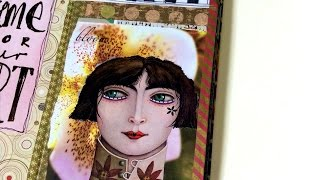 New flip of Six Over 6 journal and Traveler's Notebook!  Fun ideas to use in your everyday journal and art journal.Portland Mixed Media Collage Guild  - come join me May 6https://www.meetup.com/Portland-Collage-Artists-Guild/