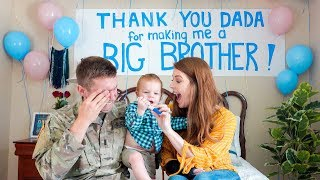 Toddler Surprises Daddy with Pregnancy Announcement!!! *Shocked*