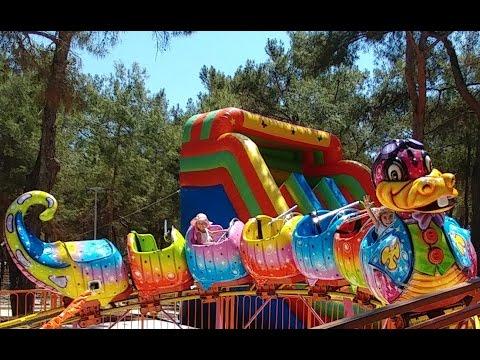 Antalya Park Orman Macera parkı Lunapark Atraksiyonlar trambolin Dev kaydırak (видео)