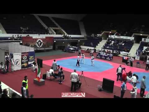 67kg Semifinal Jagoda ULFIG (POL) vs (ITA) RIZZELLI, Cristiana (-21 European TKD Championships 2015) (видео)