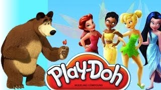 Маша и медведь Masha i Medved Лунтик Play doh платье для Tinker Bell Динь Динь из пластилина Плей