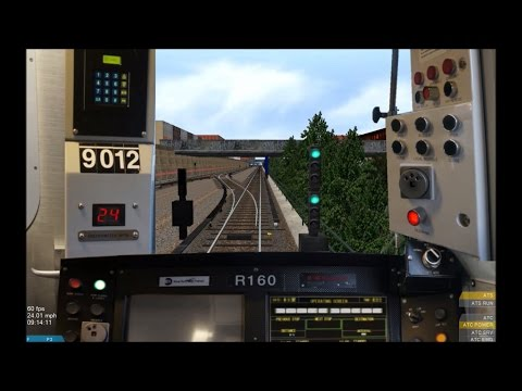 OpenBVE HD: Operating NYC Subway R160B Siemens N Train Via Sea Beach Local (Route Preview) (видео)