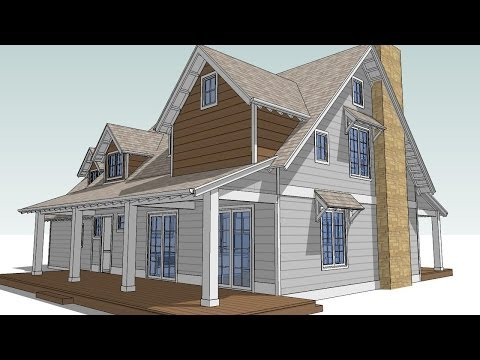 Design an Attic Roof Home with Dormers using SketchUp.  Part 4. Final Touches