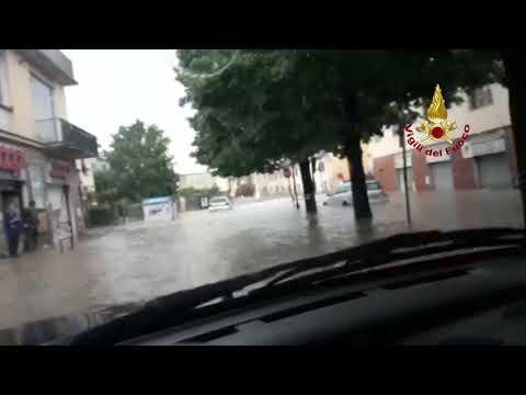 VIDEO VIGILI DEL FUOCO - ESONDAZIONE EMA