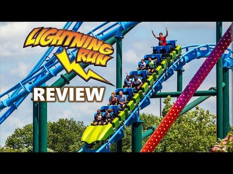 Lightning Run Review - Kentucky Kingdom (Louisville Kentucky) Chance Rides Hyper GT-X