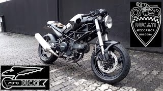 5. Ducati Monster 695 - Cafe Racer c/ Guidão Clubman - Ep. 051