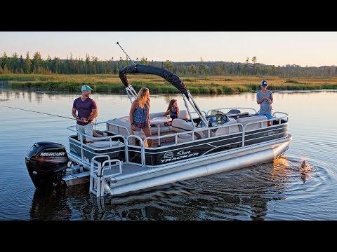 SUN TRACKER Boats: 2017 FISHIN' BARGE 20 DLX Fishing Pontoon Boat