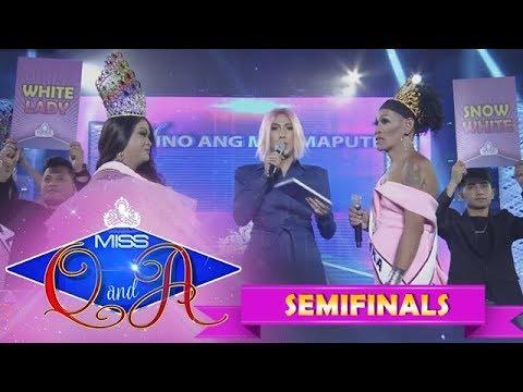 It's Showtime Miss Q & A Semifinals: Lucky Becky vs. Angelika Mapanganib   Di Ba? Teh! Ganern