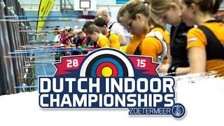 Netherlands National Indoor Archery Championships 2015 (Dutch Commentary) | LIVE