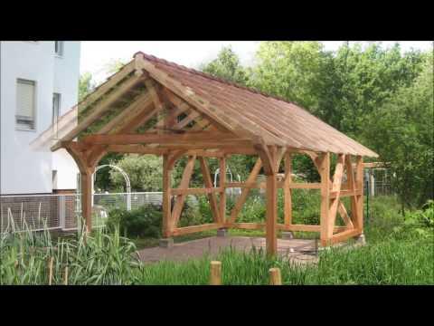 Aufstellen von einem Fachwerk Pavillon Gartenhaus