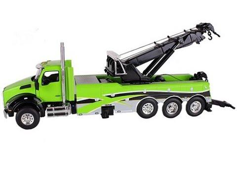 Camión Grúa Kenworth T880 Verde 1/50 Juguete