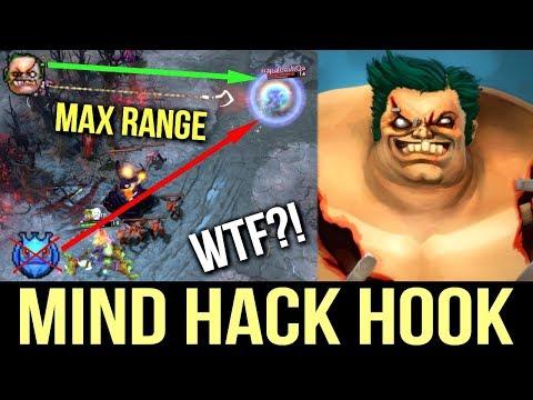 Most Amazing Hook 😮! Best Pudge WTF Hook Mind Hack by Levkan 7k Dota 2