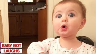 Video 100 Surprised Baby Reactions | Try Not To Laugh Challenge MP3, 3GP, MP4, WEBM, AVI, FLV November 2018