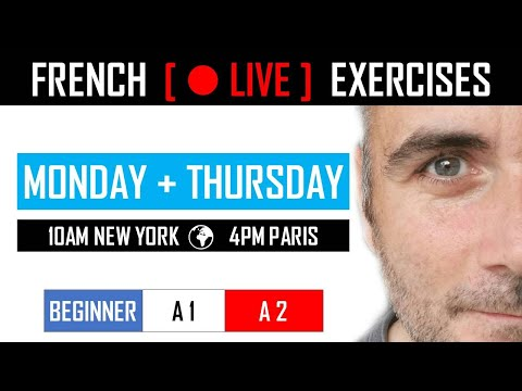 🔴 LIVE | FRENCH EXERCISES + 239$ VALUE GIFTS | BEGINNER (IN ENGLISH)