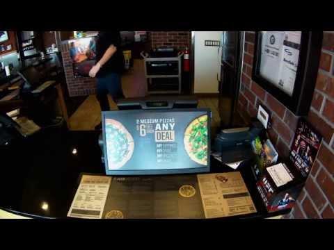 La Mirada Pizza Hut Digital Signage install