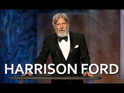 Harrison Ford salutes John Williams