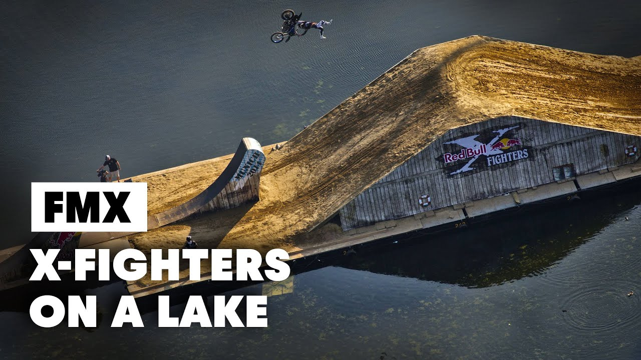 First ever FLOATING freestyle motocross course – Red Bull X-Fighters Munich 2014