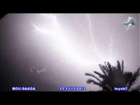 بروق عاصفة ليلة 12-13 نوفمبر 2012