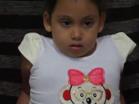 Família de Vitória de Oliveira precisa arrecadar R$ 130 mil para tratamento na Tailândia
