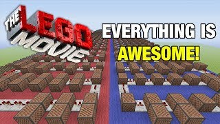 """Download Lagu The LEGO Movie Everything Is Awesome! - Minecraft Xbox """"NoteBlock Song"""" Mp3"""