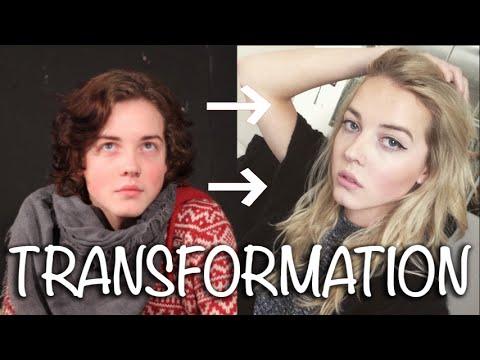 Male to Female - Transgender Transition Timeline (видео)