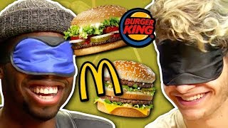 Video BLIND FAST FOOD CHALLENGE! (Squad Vlogs) MP3, 3GP, MP4, WEBM, AVI, FLV Oktober 2018