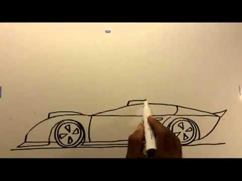 dibujos de carros - esto es para que puedan dibujar un coche.