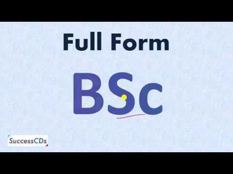BSC Full Form - What is the full form of B.Sc.?