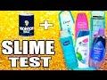 Shampoo Slime Test with head and shoulders, suave, pantene, dove, baby shampoo, garnier fructis