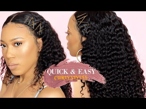 QUICK & EASY HAIRSTYLES FOR CURLY HAIR BOBBY PINS WETKISS HAIR