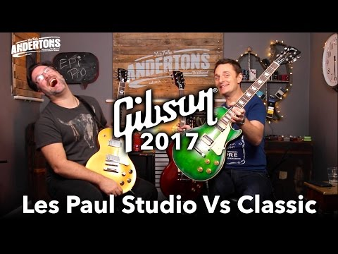Gibson 2017 Les Pauls - Classic vs Studio Shootout!!