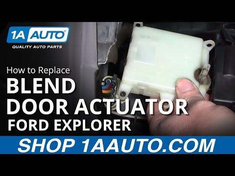 How to change blend door actuator on 2010 ford f150 for 02 explorer blend door