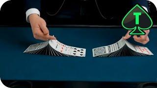 Ribbon Spread Kartentrick, Zauberer Werden, Zaubertricks Lernen, Kartentricks, Kartenmischen