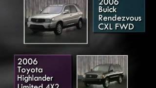 8. Buick Rendezvous (2006) Competitive Comparisons