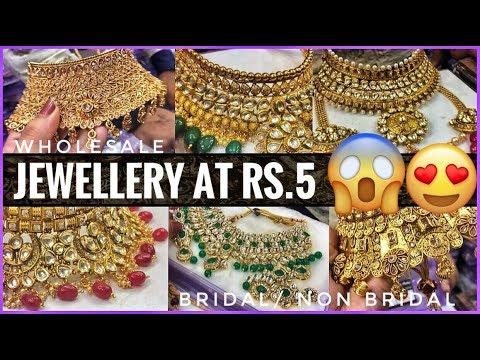 Jewellery Wholesale Market In Sadar Bazar | Bridal Jewellery Collection & Artificial Jewellery
