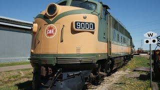 Video CN 9000 F3 at Alberta Railway Museum May 17 2015 - startup, cab ride, drone shots, MP3, 3GP, MP4, WEBM, AVI, FLV Oktober 2018