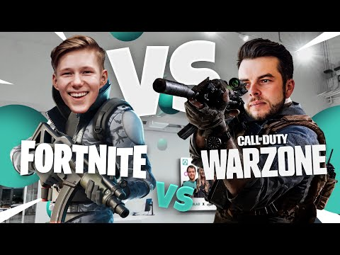 Nadeshot Bets a Tesla! Can Warzone Pros Aim BETTER than Fortnite Pros? ft. MrSavage, BrookeAB & More