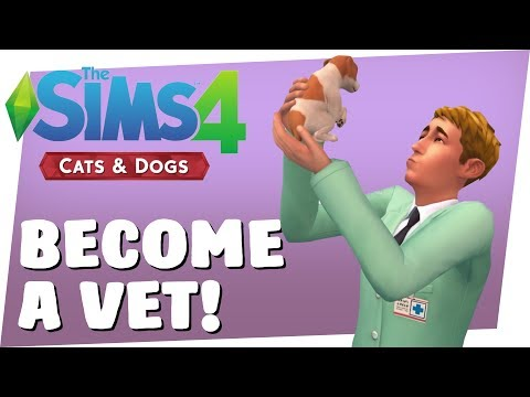 Sims 4 CATS & DOGS - BECOME A VET!! [Sims 4 Pets]