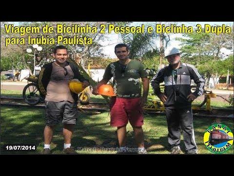 VIAGEM DE BICILINHA 2 PESSOAL E BICILINHA 3 DUPLA PARA INÚBIA PAULISTA - 19/07/14