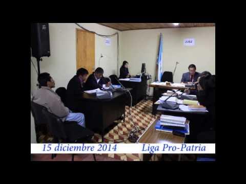 """Video. """"1a Audiencia secuestro de pobladores (2 de 2)"""" (15 dic 2014)"""