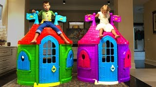 Vania and Mania build Playhouses for Children
