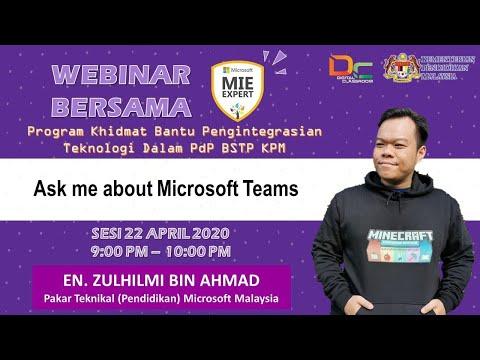 Webinar : Ask Me About Microsoft Teams