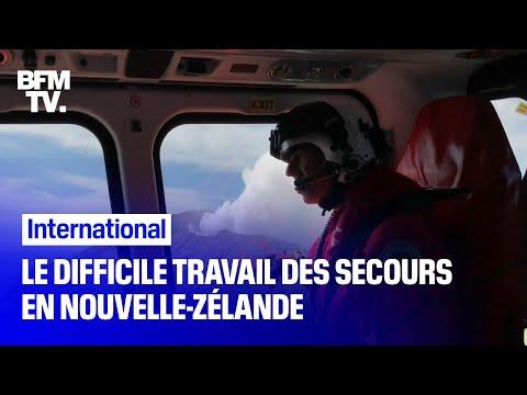 Nouvelle-Zélande: après l'éruption d'un volcan, le difficile travail des secouristes