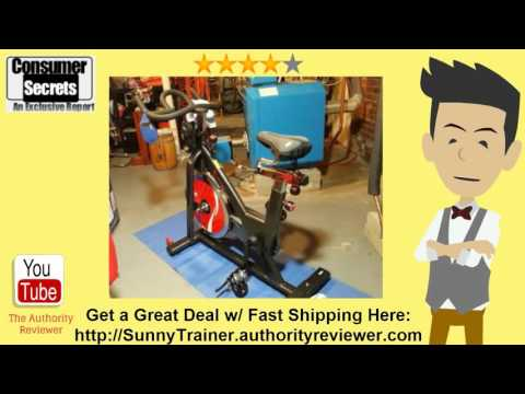 [Review & SALE] Sunny Health & Fitness Indoor Cycle Trainer 49lb Flywheel