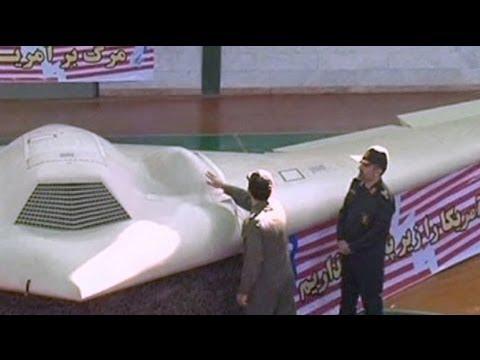 Iran displays captured US drone