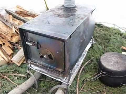 how to make your own portable pot belly stove