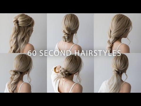 6 QUICK & EASY HAIRSTYLES   Cute Long Hair Hairstyles