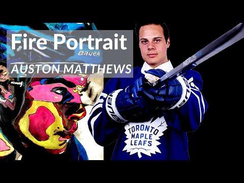 Auston Matthews || Toronto Maple Leafs || Fire Painting