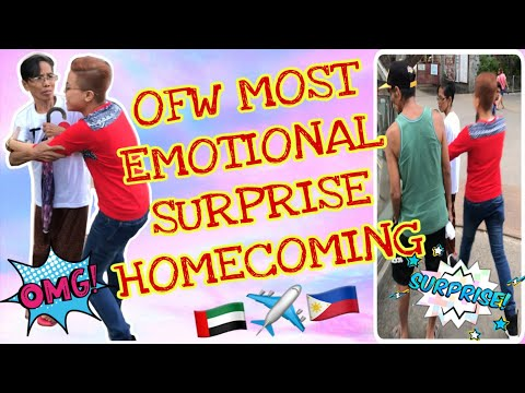Most Emotional Surprise Homecoming | BUHAY OFW | VLOG #6 | Ellie Mecca